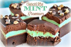 Chocolate Mint Brownies with Ganache recipe