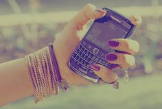 Even though she let him go sometimes she stays up at night and stare at her phone, wondering if he misses her like she misses him ♥ Blackberry Phones, Minimalist Phone, Cuff Bracelets, Bangles, Fashion Bracelets, Tumblr Photography, Favim, Pink Aesthetic, Digital Watch