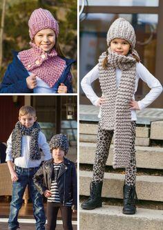Disse luene og sjalene er både enkle og raske å lage, og de passer derfor også utmerket for nybegynnere innen strikkekunsten. Se også videolinker som viser hvordan du strikker.