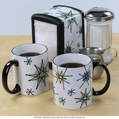 Atomic Starburst Coffee Service Gift Set | 50s Kitchen Sets | RetroPlanet.com
