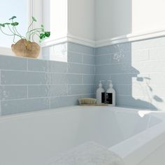 Laura Ashley Artisan french grey gloss wall tile x Decorating Ideas For Small White Bathroom Grey Wall Tiles, Grey Walls, Accent Walls, Bad Inspiration, Bathroom Inspiration, Bathroom Renos, Bathroom Interior, Bathroom Ideas, Bathroom Plants
