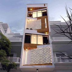 Some option for you Design Exterior, Facade Design, Brick Architecture, Residential Architecture, House Front Design, Modern House Design, Narrow House Designs, Townhouse Designs, Facade House