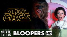 Enjoy bloopers, gags, and behind-the-scenes silliness from the sets of the Star Wars prequels and (starting at 6:30) the original trilogy. There are flubbed lines, falls, and technical difficulties galore. Some of them leave the green screens in place, for others, such as Jar Jar scenes, they actually added the CGI to the bloopers. The one that made me laugh out loud was when Obi-Wan twirled his light saber and hit Anakin in the crotch.