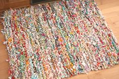 crazy mom quilts: crazy mom quilts: one way to knit a rag rug
