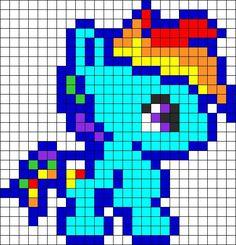 y Little Pony Baby Rainbow Dash perler bead pattern