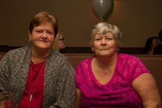 June & Gladys, my mother on the right with her sister June!!