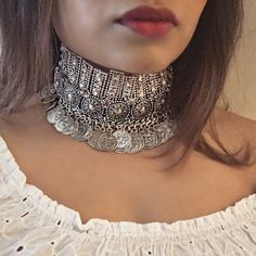 Isla Choker- Dylanlex Inspired Crystal Bohemian Ethnic Tribal Ethnic Boho Rhinestine Crystal Chunky Choker Necklace by Ajenta on Etsy