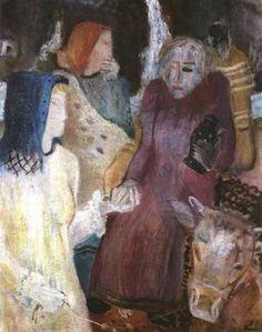 Imre Amos (Jewish-Hungarian:1907-1944) - At the Well (1934)