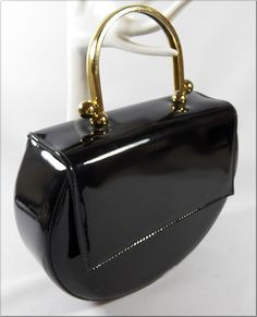 """phenomenal 60's/70's vintage black patent purse by """"Ande"""""""