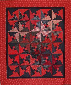Red Arabic Lattice Quilt