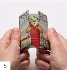 How to Make Mixed-Media Infinity Cards - Cloth Paper Scissors - I recently rediscovered the charm of little paper flexagons, known in the cardmaking world as never - Up Book, Book Art, Infinity Card, Infinity Rings, Infinity Wedding, Cloth Paper Scissors, Art Carte, Artist Trading Cards, Handmade Books