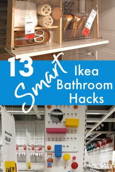 Ikea is a great place to go to spruce up your bathroom while getting it organized, too. They have stylish decor and organization that you will love for your bathroom. Check out these 13 Smart Ikea Bathroom Hacks, straight from the store! Ikea Bathroom Storage, Bathroom Hacks, Bathroom Kids, Bathroom Sink Design, Small Space Bathroom, Bathroom Styling, Under Sink Organization, Bathroom Organization, Organization Hacks