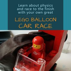 Learn about Newton's 3rd Law of Motion while having fun in this physics activity. Come see how you can have your own LEGO Balloon Car Race at home. Lego Balloons, Balloon Cars, Science Projects, Science Activities, Science Experiments, Science Programs, Chemistry, Physics, Law