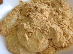 Kinako Mochi - Tofu Version Recipe - Yummy this dish is very delicous. Let's make Kinako Mochi - Tofu Version in your home! Japanese Snacks, Japanese Sweets, Low Carb Sweets, Tasty, Yummy Food, Best Dishes, Mochi, Sugar Cookies, Tofu