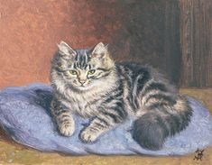 The Blue Cushion Painting by Horatio Henry Couldery