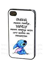 Disney Lilo and Stitch Ohana Means Family Quote Case Cover for iPhone , iPod