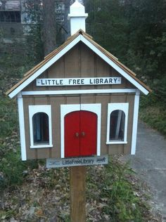 Little Free Library box from their website, or they helpfully provide plans so you can build your own, or you can use your own creativity and build something of your own design.