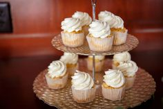 Mini cupcakes are a great bite-sized alternative to the traditional wedding cake. | Photo: Phil Black Photography | Cupcakes: Love + Buttercream