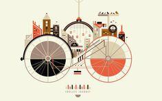 Cute bike poster by Petros Afshar and Sammi Swar