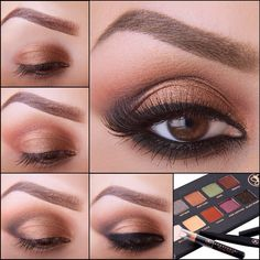 A beautiful smokey browns eye that @elymarino did for the Lavish palette insert.