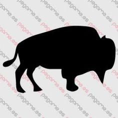 Pegame.es Online Decals Shop  #animal #buffalo #bison #vinyl #sticker #pegatina #vinilo #stencil #decal
