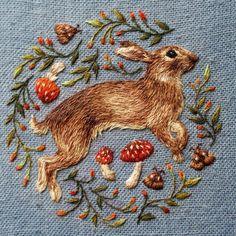 Beautiful embroidery by Chloe Giordano, Oxford, UK, shown in UK Handmade Magazine Spring 2017