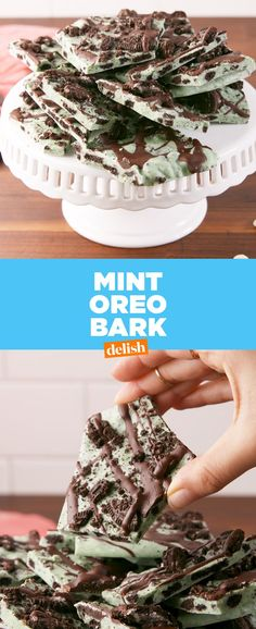 Oreo Peppermint Bark: The Holiday Treat We Can't Stop Eating Oreo Peppermint Bark: The Holiday Treat We Can't Stop EatingDelish Christmas Bark, Christmas Sweets, Christmas Goodies, Christmas Recipes, Holiday Recipes, Holiday Desserts, Christmas Holiday, Holiday Cookies, Holiday Treats
