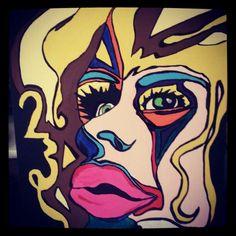 La Poeta, 23. Painted by Frankie Llaffac. 2013