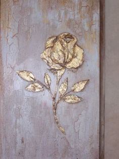 Stencil, Wall Stencil, Raised Plaster Stencil Single Rose Wall Stencil, Painting Stencil, Furniture Stencil ♡ Raised Plaster Single Rose Stencil Wall Stencil by ElegantStencils. Rosa Stencil, Stencil Painting, Texture Painting, Wall Stenciling, Plaster Art, Plaster Molds, Painting Templates, Rose Wall, Single Rose