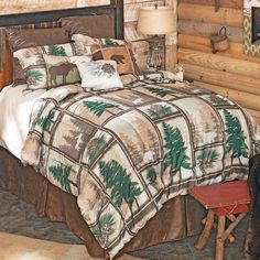 Black Forest Decor, Rustic Bedding, Blanket Cover, Western Decor, Bedding Collections, Accent Pillows, Living Area, Bedding Sets, Pillow Covers