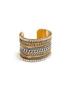 Skip the busy work of stacking all your bracelets. This cuff has done all the work for you.