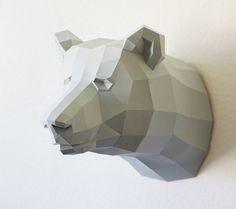 Papercraft  bear trophy faux by PaperwolfsShop.