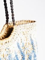 Indigo Dreams Straw Tote | From island adventures to local farmer's market trips this structured straw tote will hold all of your essentials no matter where you are!      * Indigo dyed crochet overlay    * Long top handles