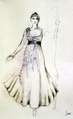 The Tempest (Juno). The Hartford Stage. Costume design by Fabio Toblini.