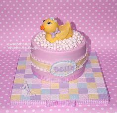 Adorably baby shower cake