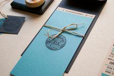 folded stamps poster invitation wedding