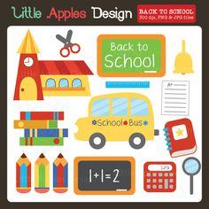 Back To School Clipart — mygrafico School Bus Clipart, Back To School Clipart, Chalkboard Clipart, Chalkboard Art, Back To School Party, School Parties, Pencil Clipart, Book Clip Art, Pocket Letters
