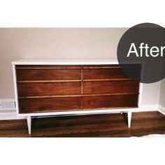 midcentury modern dresser before & after- taylergolden.com