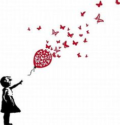 Kids World Poster-Sticker For Windows - Girl With Red Butterfly Balloon, Banksy Style (20 x 16 inches) 1art1 http://www.amazon.com/dp/B00LP0WXPE/ref=cm_sw_r_pi_dp_KDdevb1HJ0YAS