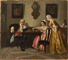 SCHLESINGER Henri-Guillaume (1814 – 1893) Chess Player.