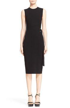 Michael Kors Wrap Belt Knit Sheath Dress $596.98  #BestReviews #newarrivals #TopDesinger