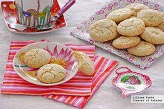 Receta de galletas craqueladas de cítricos. Con fotografías paso a paso, consejos y sugerencias de degustación. Recetas de repostería. Recetas de galletas