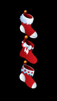 CHRISTMAS STOCKINGS, IPHONE WALLPAPER BACKGROUND