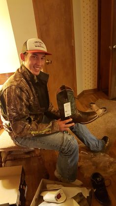 Freshman Coy Lutz excited to wear his new Dan Post Cowboy Certified boots