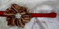 Cappuccino Handmade Flower with an by TheColorfulClover on Etsy, $8.00