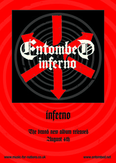 Entombed - Inferno quarter page ad. Client: Music For Nations. Circa 2002. © Sean Mowle.