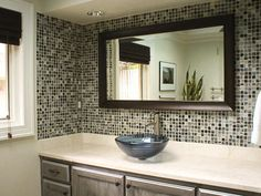 Love the sink and the tile.  Since my honeymoon I've wanted a basin sink.  Preferably tile.