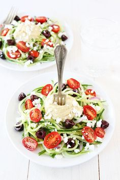 Greek Cucumber Noodles Recipe