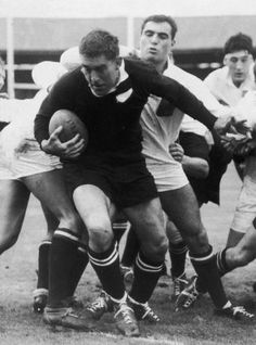 Colin Meads was a King Country farmer who played for the All Balcks for 14 years (1957-71). Often considered to be one of our greatest players, he was famous for his hard uncompromising play and his fierce determination to win. Part of an enormously successful 1960's team he epitomised the quiet determined Kiwi bloke.