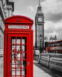 Laeacco Red Telephone Booth Big Ben London Street Scenic Photography Backgrounds Vinyl Custom Camera Backdrops For Photo Studio City Of London, London Icons, London Style, London Bus, Big Ben, London Calling, Places Around The World, Oh The Places You'll Go, Deco London